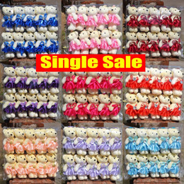 Wholesale Small Bear Gifts - Plush toys Cartoon teddy bear Flower bag moppet Holiday Expression tendresse gift Bouquet doll High 10-12 cm 100%Good quality