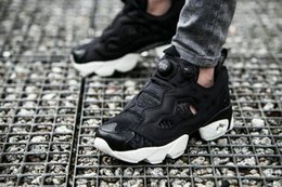 Wholesale Inflatable Men - Limited edition Casual shoes Outdoor Sports shoes 3M Insta Pump Fury Inflatable Deflated Men and Women shoes Black