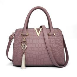 Wholesale Boys Skull Denim - All-match new tide crocodile Fashion Handbag Bag Handbag simple bag lady Shoulder Messenger Bag