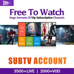 Wholesale Quad Hd - 1 Year Free 3500 VIP Subscription Channels HD Europe Arabic Canl Plus French Brazil Sweden Subtv IPTV Account Work on Android Mag250 TV Box