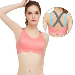 Wholesale Free State Steel - Cross the United States back strap without steel ring sports underwear quick running yoga fitness shock sports bra