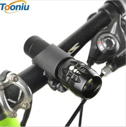 Wholesale cree q5 bike - CREE 2300LM LED Flashlight Bike Bicycle Light Waterproof Q5 LED Flashlight 3 Modes Zoomable LED Torch Adjustable Penlight