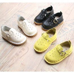 Wholesale Girls Hollow Shoes - 2017 Spring Summer Baby Hollow out Genuine leather Mary Jane shoes Infants boys girls casual Pierced shoes sandals for 0-3T
