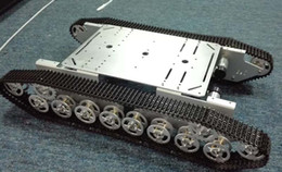 Canada Vente en gros - officiel DOIT RC châssis de chars en métal 4wd robot chenille sur chenilles chenilles à chaînes voiture véhicule mobile Plaform tracteur jouet supplier rc car robot Offre