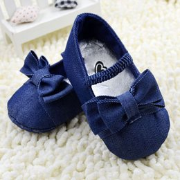 Wholesale Fabric Chic - Wholesale- Stylish Toddler Bowknot Crib Shoes Baby Shoes Girl Soft Sole Chic Prewalker