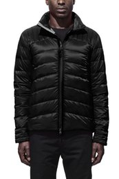 Wholesale Double Bows Satin - BLACK LABEL Men's Thin light Down jacket WINTER CANADA BRO-JAC-2 Down & Parkas Brand Real Raccoon Fur Collar White Duck Outerwear & Coats