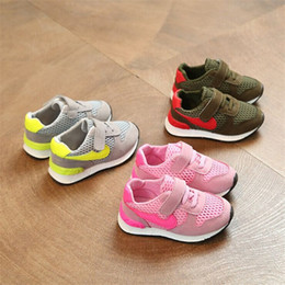 Wholesale Children Shoes Rubber Bottoms - Children Shoes Boys Girls Sport Toddler Shoes & Kids Baby Fashion Soft Bottom Sneakers Comfortable Breathable Mesh Casual Shoes