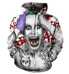 Wholesale Hoodies Joker - Newest Fashion Womens Mens Suicide Squad Joker Harajuku Style Funny 3D Print Casual Crewneck Hoodies Plus Size KK3