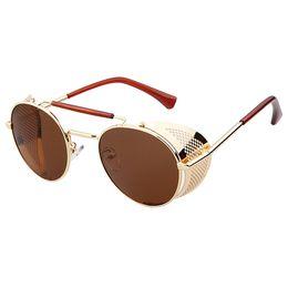 Wholesale Oculos Sol Vintage Masculino - Batman Sunglasses Metal Frame Mirrored Sunglasses for Men and Women steam punk Glasses Vintage Sun glasses oculos de sol masculino 77