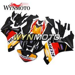 Wholesale Honda Repsol Motorcycle - Motorcycle Plastics ABS Injection Repsol Black Orange Red New Fairings For Honda CBR250RR 2011 2012 2013 2014 Year Full Fairing Kit Bodywork