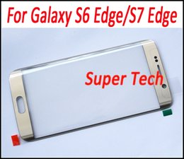 Wholesale Galaxy Lens Kit - For Galaxy S7 Edge OEM Touch Screen Glass Replacement Front Outer Lens Glass Screen Repair Kit for Galaxy S6 Edge S7 Edge