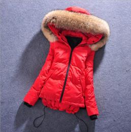 Wholesale Light Blue Girls Winter Coat - QM17 Winter Women's Down Jacket Short Black Red Light Blue Girls Parkas Slim Keep Warm Woman Outwear Coat Clothing Formal Dress
