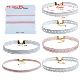 Wholesale Crazy Flowers - Jewelry wholesale flower Multicolor lace collar velvet ribbon Retro neckband bell to send his girlfriend crazy shopping free shipping