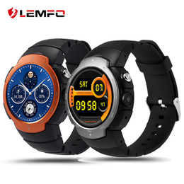 Wholesale google phone calls - LEMFO LEM3 3G wifi Smart Watch phone Android 5.1 OS MTK6580 Quad Core smartwatch phone Support google map Heart Rate Monitoring