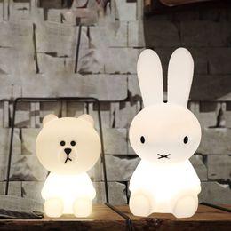 Wholesale Night Light Bear - 50 cm Rabbit Lamp Bear Christmas Decorations Gifts For Baby Kid Girl Boy Light Bright Emitting Night Lamp For Toddler Nursely Decor