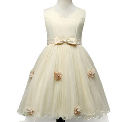 Wholesale Wholesale Clothing For Teenage Girls - New Girls party wear clothing for children summer sleeveless lace princess wedding dress girls teenage well party prom dress cc833