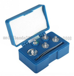 Wholesale Weight Calibration - NEW 5pcs Weight Set Precision Chrome Calibration Weight Kit 50g 20g 20g 10g 5g free shipping MYY