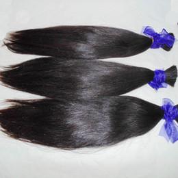 Горячая красота девственные волосы онлайн-400 г / лот Вязание крючком из искусственной косы сыпучие прямые прямые бразильские волосы полный пучки Hot Girl Beauty