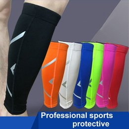 Wholesale Cycle Compression Layers - 1PC Men Women Base Layer Compression Legs Sleeve Shin Guard Cycling Leg Warmers Running Football Basketball Sports Calf Support
