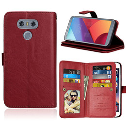 Wholesale Stylus Stand - 9 Card Slot Money Photo frame Stand Wallet Case for LG G6 Stylus 2 Plus V20 X MAX X STYLE K10 2017 Stylus 2 LS775 Stylus 3 P9 P10 PLUS 1PC