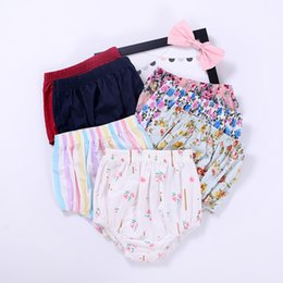 Wholesale Thin Girl Dress - Ins baby clothes girl mini shorts Beach Briefs Thin Floral PP shorts outwear homewear Dress matched prints 2017 summer cotton wholesale