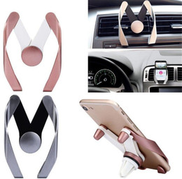 Wholesale Apple Shaped Iphone Stand - Universal M Shape design Air Vent Car Mount Cell phone Holder Phone Stand For Iphone 7 6s 8 plus for Samsung s8 note 8 Sony HTC