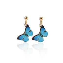 Wholesale Neoglory Vintage - Neoglory Enamel Earring Chandelier Big Vintage Bohemian Boho Stud Earrings for Women Fashion Jewelry ButterflyEarring jl-088