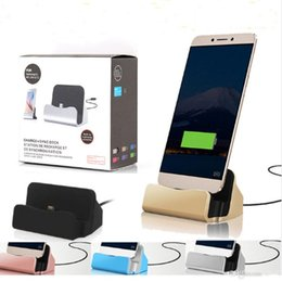 Wholesale Dock Iphone Retail - Quick Charger Docking Stand Station Cradle Charging Sync Dock With Retail Box For Type-c iPhone 6 7 Plus For Samsung S6 S7 S8 edge Note 5