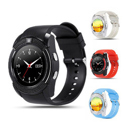 smartwatch gsm Coupons - V8 Smartwatch with GSM bluetooth watch Camera Multiple for android IOS smartphone high quality Best for selling