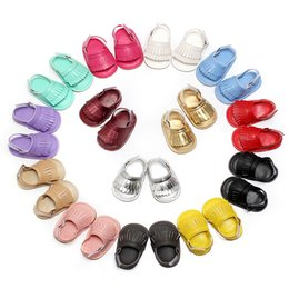 Wholesale Baby Girls Shoes Sandals - New Summer Style Baby Moccasins Soft Bottom Fringe Candy Color Girls Toddler Shoes Baby Slippers Boys prewalker baby sandal