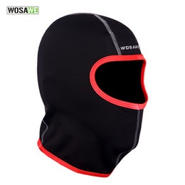 Wholesale Motorcycle Winter Thermal Face Mask - WOSAWE Thermal Balaclava Winter Sports Riding Ski Masks Hiking Tactical Head Cover Motorcycle Cycling Protect Full face Mask BC323