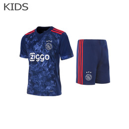 Wholesale Stocking Pants - In stock!Eredivisie Kids shirts camisetas Ajax away kids football shirts+pants kits Ajax away Kids Soccer Jersey