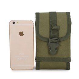 Wholesale Large Canvas Purse - Jun fan Nylon Bag Purse tactical outdoor leisure sports male multifunctional large screen mobile phone sales package
