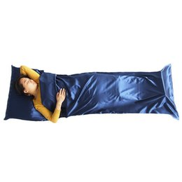 Wholesale Mummy Cover - Wholesale- 1pc Hot Sale Ultra-light Portable Breathable Healthy Single Sleeping Bag Liner Pillow Cover Outdoor Camping Travel Supplies