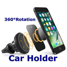 Wholesale Smart Phone Mount - Smart Mobile Phone Car Holders Universal Magnetic Car Mount Holders Air Vent Round Silicone Plate Stand