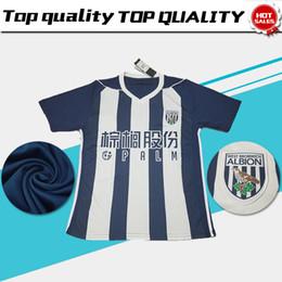 Wholesale West Home - West Bromwich Albion home Soccer Jersey 17 18 West Bromwich Albion blue white Soccer Shirt 2018 football uniform Hot Sales