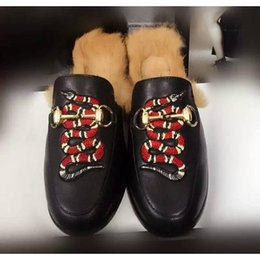 Wholesale Shoe Novelties - Luxury Brand Horsebit Plush Wool Slippers Princetown In Pelle Foderata E Rifinita In Pelliccia Di Agnello BIRKENSTOCK Loafer Shoes Moccasins