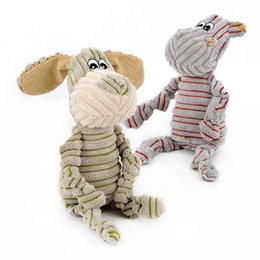 Wholesale Toy Organs - Plush Toys Striped Cute Little Donkey Sound Vocal Organ Soft Fabric Pet Puzzle Toy Molar Bite Training 13 5hy F R