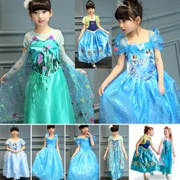 Wholesale Wholesale Bride Costume - Cinderella Elsa Anna Princess Dress New Girls Gauze Lace Cosplay Costume Party Bride Dresses For Children Birthday Gifts PX-A16