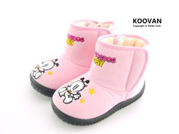 Wholesale Rubber Dog Boots - Koovan Children Boots 2017 Warm Children Ankle Boots Dog Cartoon Cotton Girls Snow Boot Boys Girls Kids Rubber Shoes 23-27 KX5127