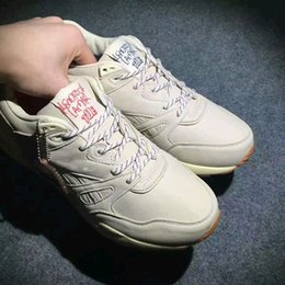 """Wholesale Skid Shoes - 2017 Genuine leather KENDRICK LAMAR Ventilator """"Neutral"""" KL Men and Girl white Breathable Outdoor Anti-skid Casual shoes Sports shoes"""