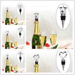 Wholesale Wine Bottle Stopper Zinc - Zinc Alloy Love shaped cork Wine Stoppers Vacuum Plug Bottle Stoppers Bear Champagne Cork Wine Plugs Caps IA510