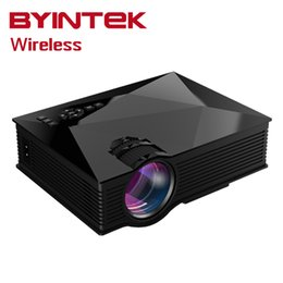 Wholesale Portable Projector For Iphone - Wholesale-BT460 Wireless Mini Portable HD 1080P Home Theater HDMI uNIc uC46 gM60 USB LCD Phone WIFI LED Projector For Iphone Android Ipad