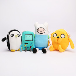 Wholesale Adventure Time Finn Jake - 140pcs lot Adventure Time Finn Jake BMO Penguin Plush toys Soft Stuffed Anime Dolls brinquedos 6inch-13inch
