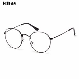 3ffb98e68bf Wholesale- Large Oversized Metal Frame Clear Lens Round Circle Eye Glasses  Horned Rim Glasses Small Size Thin Frame Unisex Glasses