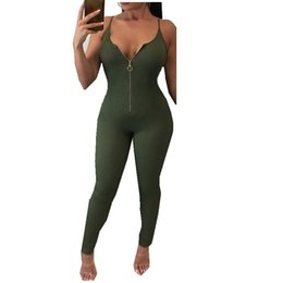 Wholesale wholesale women clubwear - Wholesale- New Women Ladies Clubwear V Neck Playsuit Bodycon Party Jumpsuit&Romper Trousers