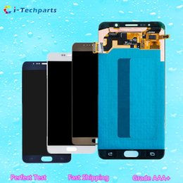 Wholesale Note Touch Digitizer Screen - New Original For Samsung Galaxy Note 5 LCD Display Screen and Digitizer Touch Screen Panels with Adhesive Blue White Gold,Free DHL Shipping