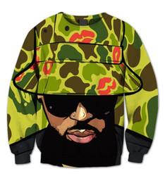Wholesale Sublimation Sleeve - Wholesale- Real USA Size Chris Brown 3D Sublimation print Crewneck Sweatshirts fleece streetwear plus size