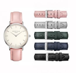 Wholesale Water Resistant Battery Case - USA Brand ROSE Watches Leather Strap Fashion ladies quartz watch-Silver watch case