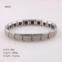 Wholesale Ge Bracelets - Couple Germanium Titanium Steel Elastic Bracelet Stretch Bracelet Bangle for Men Women Health Energy Ge Power Jewelry